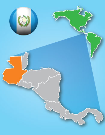 Guatemala's ubication map